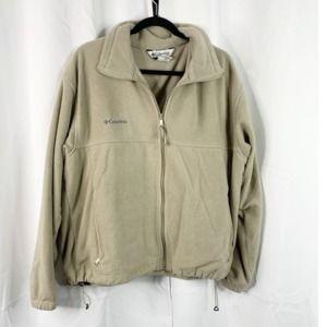 Columbia XL tan fleece full zip sweatshirt